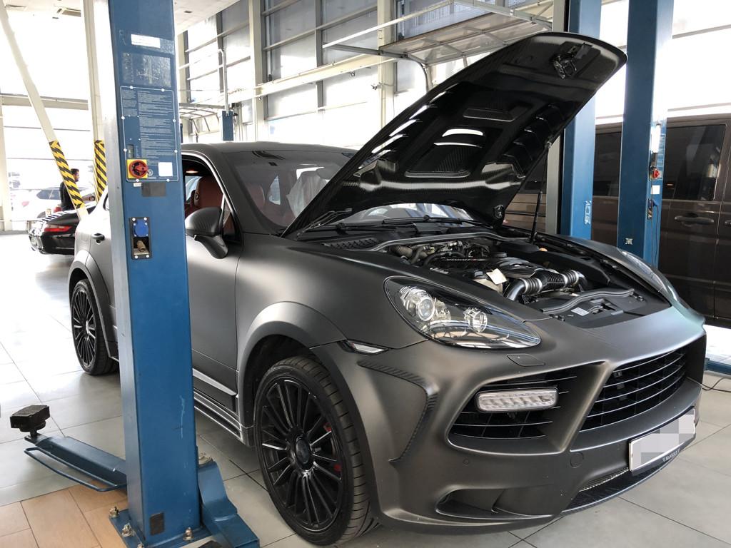 Почистить моторный отсек Cayenne Turbo