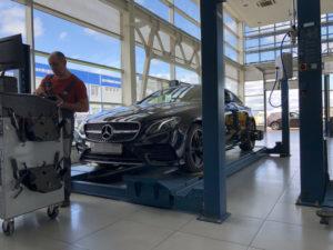 Регулировка развала на купе Е класс