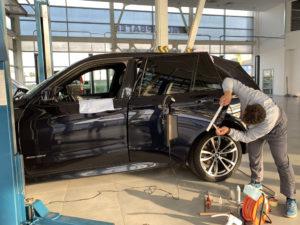 Удаление вмятин на BMW Х5