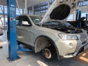 Замена амортизаторов на BMW Х3
