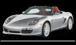 Porsche Boxster серого цвета на белом фоне