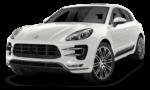 Porsche Macan белого цвета на белом фоне